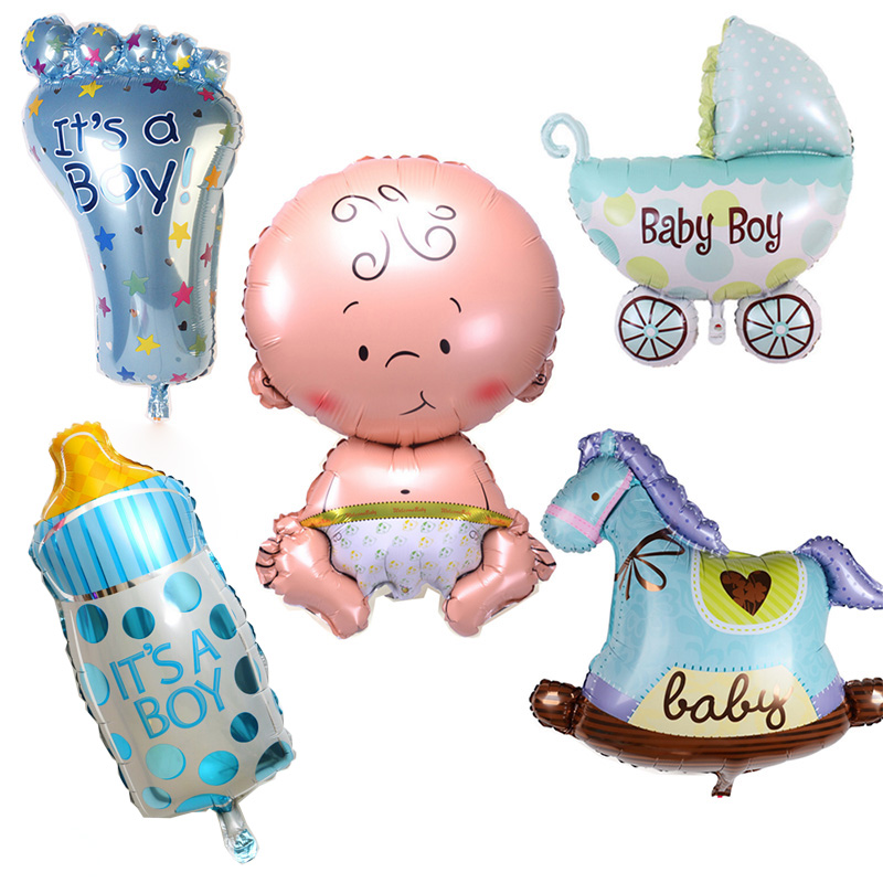 5pcs set cute children aluminum foil helium balls baby boy. Black Bedroom Furniture Sets. Home Design Ideas