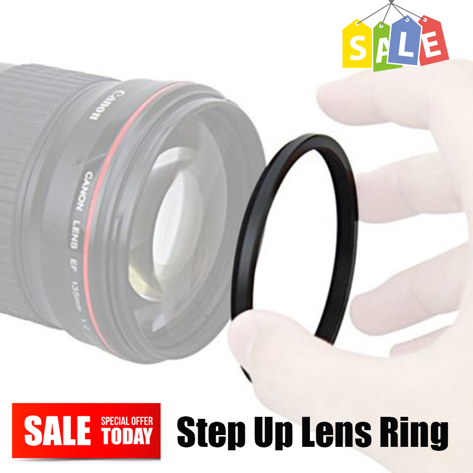49-52mm 49-55mm 49-58mm 49-62mm 49-67mm 49-72mm 49-77mm 49-82mm Camera Metal Step Up Rings Lens Adapter Filter Ring Male 49mm