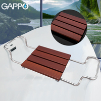 GAPPO Bathroom Chairs & Stools bathtub shower seat relax chair shower chair solid wood stainless steel shower seat