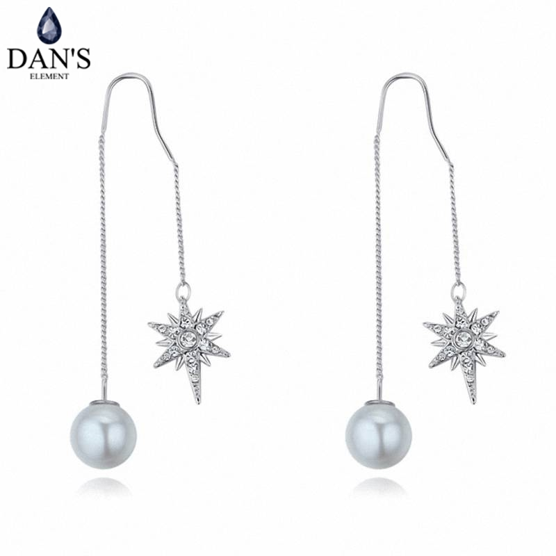 DANS 3 Colors Real Austrian crystals Stud earrings for women Earrings s New Sale Hot Round 125589