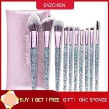 Кисти для макияжа Энцо Кен (Прямая доставка) 10 шт Foundation Blush Brush смешивание порошка тени для век набор кисточек для макияжа