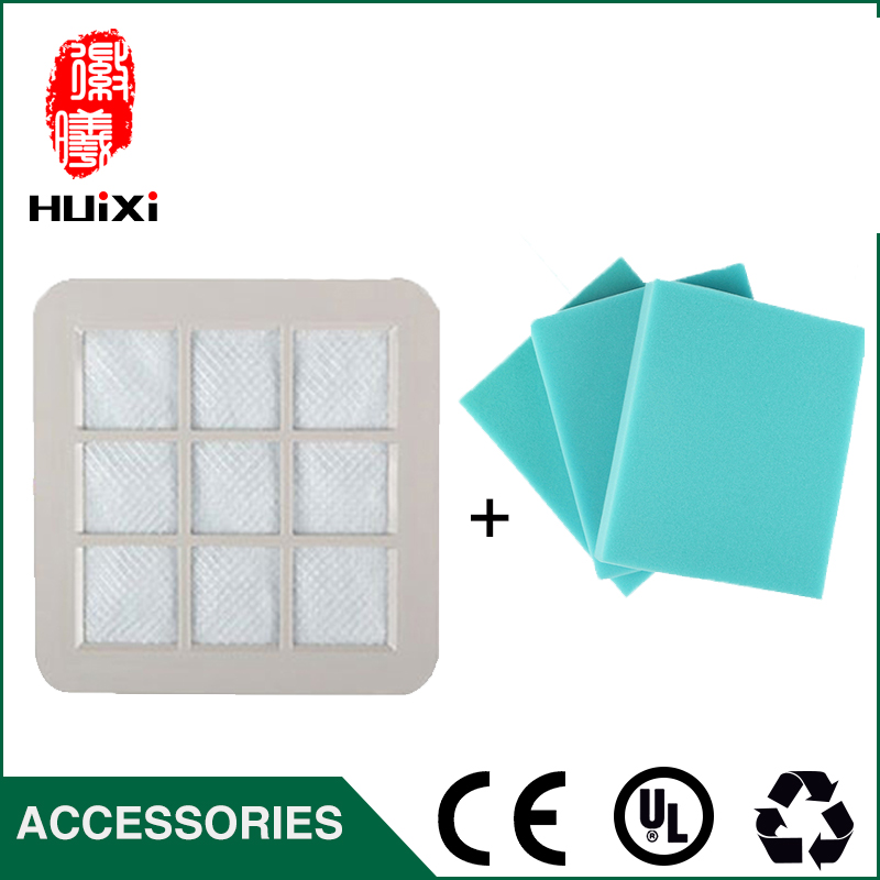 1PCS white hepa filter +2 pcs 120*120*20mm filter cotton Vacuum Cleaner Accessories of  Vacuum Cleaner  FC5225  FC5830  FC5822 filter hepa of wp601 accessories of puppyoo vacuum cleaner