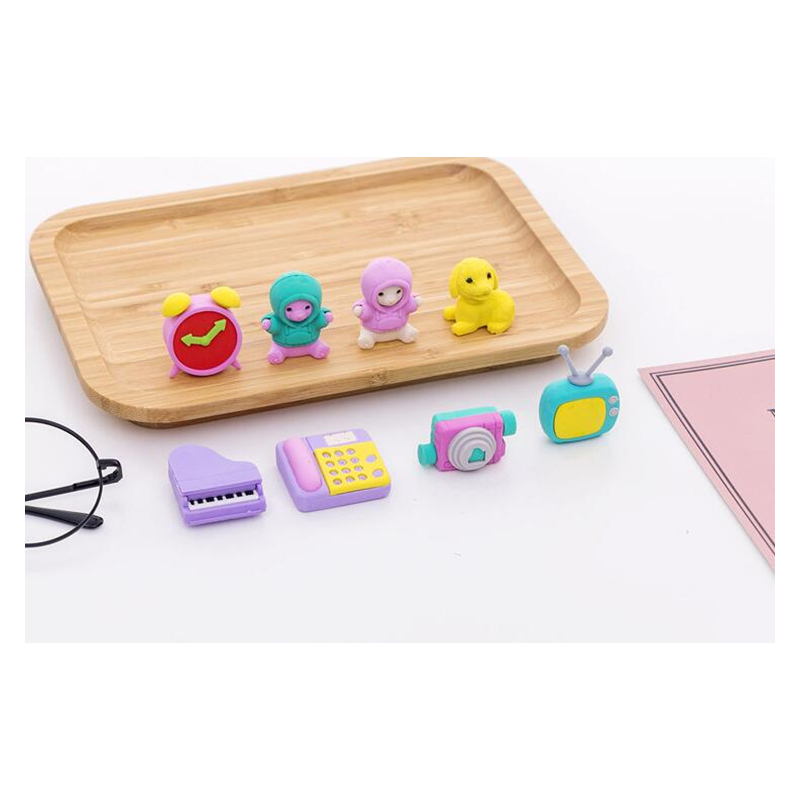 Clock Eraser Television/School Piano Eraser  Doll /Camera Eraser New Arrival Retailed Cartoon Stationery Design At Random