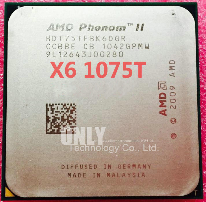 free shipping AMD Phenom II x6 1075T CPU Processing Six Core 3.0Ghz/L3=6M/125W AM3 938pin Desktop HDT75TFBK6DGR-in CPUs from Computer & Office