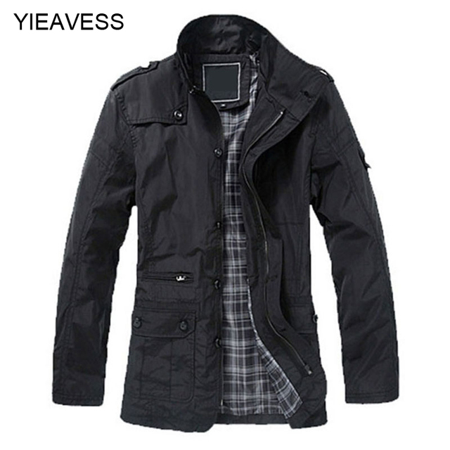 2018 New Winter And Fall Fashion Men Trench Coat Mens ...