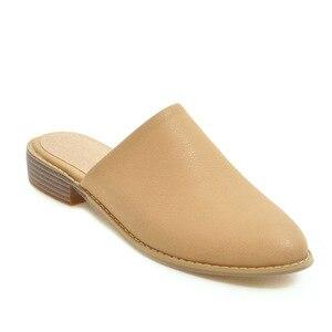 Image 3 - Sandalias planas informales elegantes para mujer, zapatillas bajas de talla grande 48, de marca de diseñador, para verano, color negro