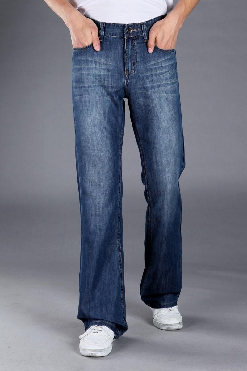 Pantallona xhinse bluzë me pantallona blu për meshkuj, pantallona - Veshje për meshkuj - Foto 2