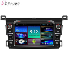 TOPNAVI Quad Core Android 4.4 Car DVD Multimedia Player for Toyota RAV4 2014 Autoradio GPS Navigation Audio Stereo Bluetooth