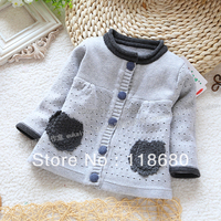 Free Shipping Retail New 2013 Spring Autumn Baby Clotinge Children S Cardigan Sweater For Girls Single