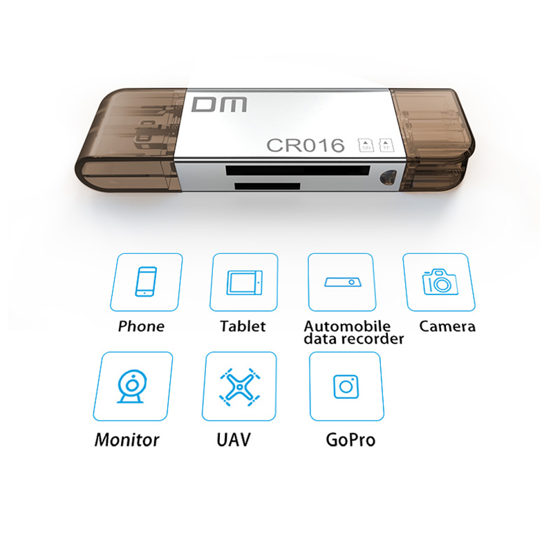 Image 5 - DM CR016 Lightning Micro SD/TF OTG Card Reader USB 3.0 Memory Mini Cardreader for iPhone 6/7/8 Plus iPod iPad OTG Card Reader-in Card Readers from Computer & Office