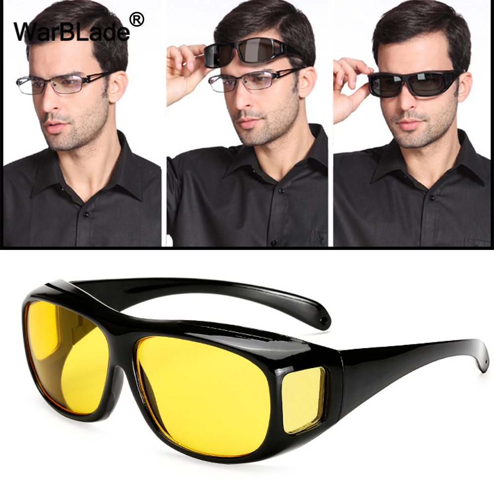 4be15e41c65 2018 New High Quality Driving HD Night Vision Yellow Lens Sunglasses Driver  Safety Sun glasses Goggles type glass Brand