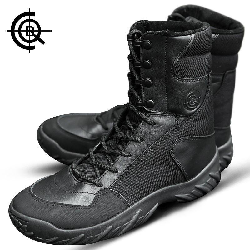Brand CQB Camping Hiking Boots Winter Trekking Tactical Boots Male Shoes Outdoor Desert Combat Boots  Mountains Shoes SL0023 yin qi shi man winter outdoor shoes hiking camping trip high top hiking boots cow leather durable female plush warm outdoor boot