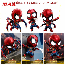 Collectible MINI Version 10cm Avengers Infinity War Spiderman Iron Spider PVC Action Figure Collectible Model Toy 35cm avengers 3 incredible hulk robert bruce banner justice league pvc action figure dc comics collectible model toy l2016