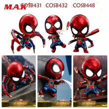 Colecionáveis MINI Versão 10 cm Vingadores Infinito Guerra Ferro Aranha Spiderman PVC Action Figure Collectible Modelo Toy(China)