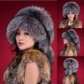 Envío Gratis RU Imitación de Piel de invierno Sombreros para Las Mujeres Faux Fox Sombreros Casquillo de Las Señoras de Invierno de Imitación de Visón de piel Sombrero de Piel de Invierno de Las Mujeres Beanie