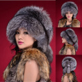 Free Shipping RU winter Faux Fur Hats for Women Faux Fox Fur Hats Cap Ladies Winter Faux Mink Fur Hat Women Winter Beanie