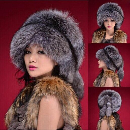 Free Shipping RU winter Faux Fur Hats for Women Faux Fox Fur Hats Cap Ladies Winter Faux Mink Fur Hat Women Winter Beanie