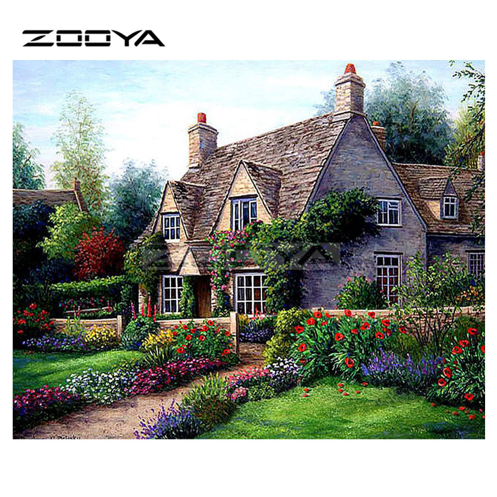 5D DIY Full Drill Diamond Painting Garden Cross Stitch Embroidery Mosaic