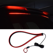 12V T10 LED Stop Light Flashing Brake Strip Safety Warning Signal Lamp Rear Tail High Mount 90cm