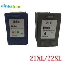 einkshop 21XL 22XL Remanufacture Ink Cartridge Replacement for HP 21 XL 22 Deskjet 1530 1455 F2100 F2180 F4100 F4180 printer