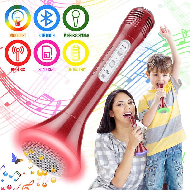 Беспроводной караоке микрофон, Bluetooth портативное караоке машина с динамиком микрофон вечерние KTV дома Mike системы