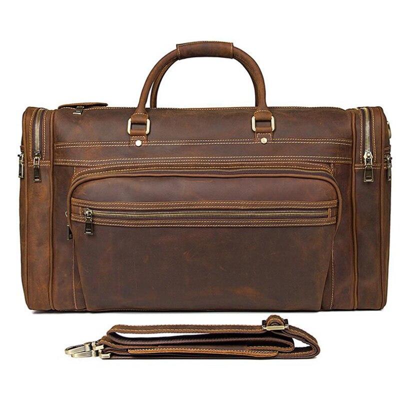 LEXEB Fullkornsläge Business Travel Duffle För Män Övernattning - Väskor för bagage och resor - Foto 2