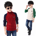 Winter Boys Sweater 2016 Children's Turtleneck Thickening Sweaters Casual Kids O-neck Pullover Knitted Sweater