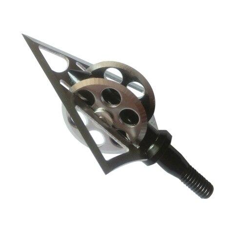 6 pcs arco e flecha caca broadheads 100 grao uma lamina rodas quentes 5 5cm