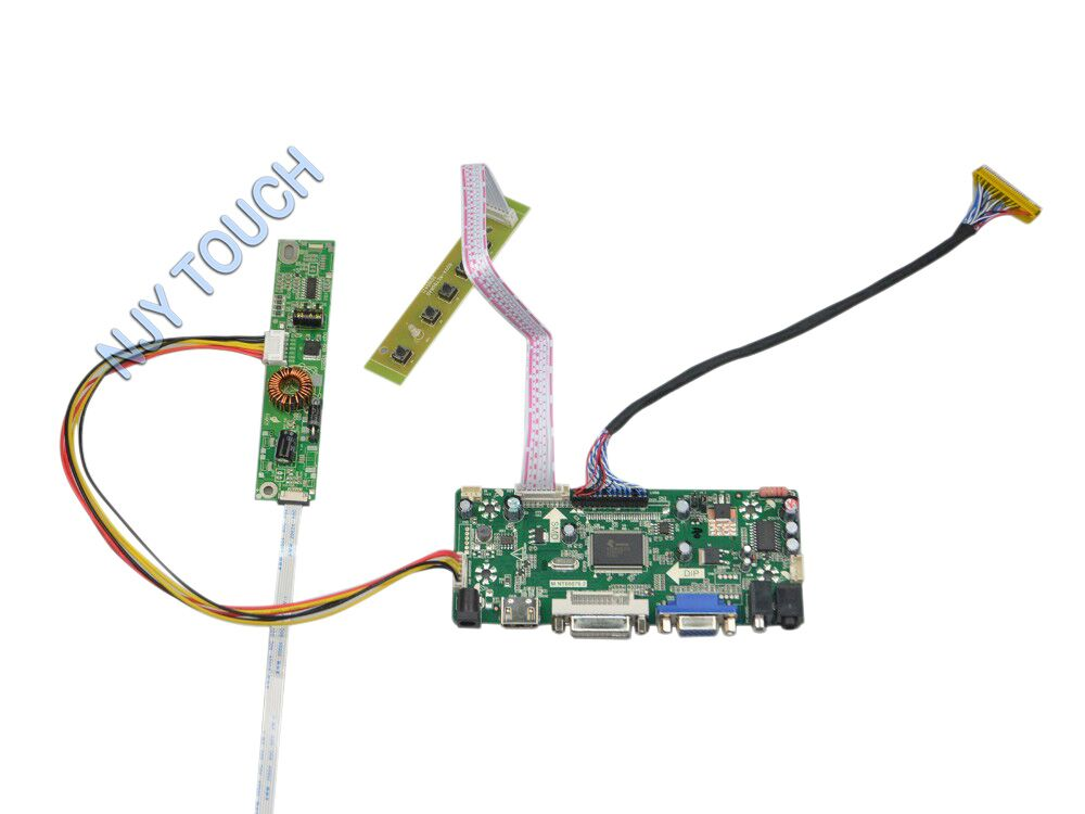ФОТО M.NT68676.2A Universal HDMI DVI VGA LCD Controller Board for 18.5 inch 1366x768 LM185WH2-TLC1 10019HR-06 LED Monitor Kit