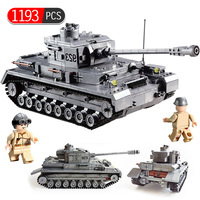 Military War German NO.4 F2 Tank 923 3D Model Building Blocks Sets Compatible Legoingly Army Bricks Educational Toys For Kids
