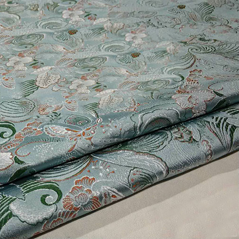 HLQON 75cm width brocade yarn dyed light fabric for patchwork felt tissue telas bed sheet children cloth coat cheongsam dress