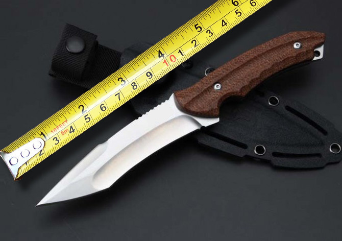Buy Toplu Kiku KU-2001 Tactical Fixed Knife AUS-8 Blade Outdoor Survival Knives Rescue Knife Straight Knives Camping Hunting EDC cheap