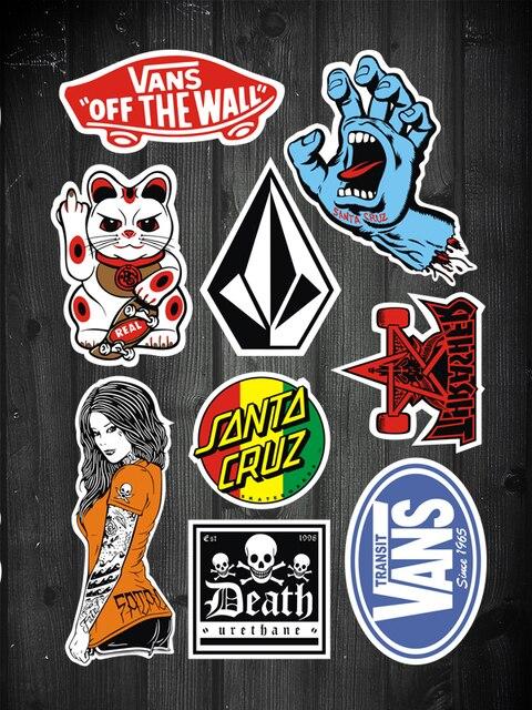 stickers vans skateboard