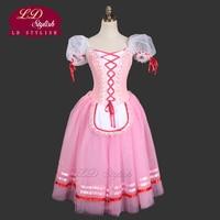 Розовый романтический балетная пачка для девочек Giselle балетные платья для детей романтическая пачка платье для взрослых крестьянское плат
