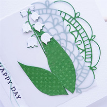 Naifumodo Convallaria Flower Metal Cutting Dies Scrapbooking Lily of The Valley for Card Making DIY Embossing Craft New