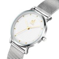 Shengke Brand Luxury Women Quartz Watches Stainless Steel Wristwatch Ladies Clock Relojes Mujer 2018 SK Women