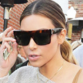 Kim Kardashian Sunglasses Lady Flat Top Eyewear Frame Lunette Femme Women Luxury Brand Sunglasses Women 2016 Sun Glasses Female