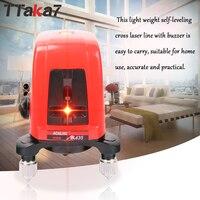 TTAKA7 Mini Portable Laser Level 360 Degree Self leveling Cross nivel Laser Leveler Laser Line 2 Line 1 Dot Horizonatal Vertical