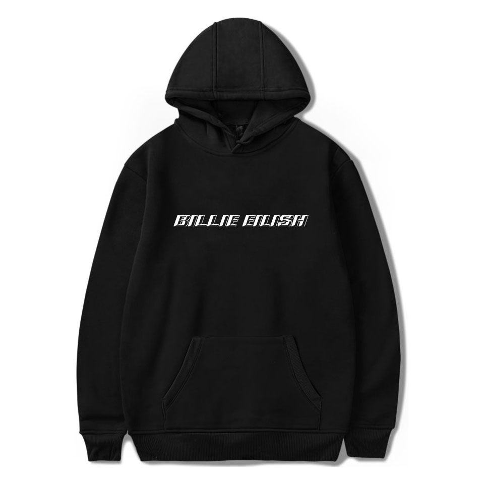 Fashion Singer Billie Eilish 2019 New Casual Mens Hoodies Sweatshirts Cotton Print Hooded Women/Men Pullover