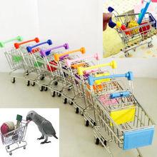 Новая красочная забавная мини-тележка для супермаркета, тележка для домашних животных, птица, попугай, игрушка для хомяка