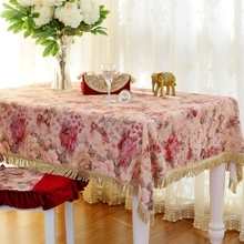New embroidered Tablecover Tablecloth For Rectangle Table Wedding Event Patry Decorations Cover Cloth