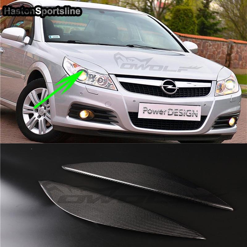 Vectra 148 Carbon Fiber Car Headlight Eyelid Eyebrows Cover Trim Sticker for Vauxhall Opel 2006-2016