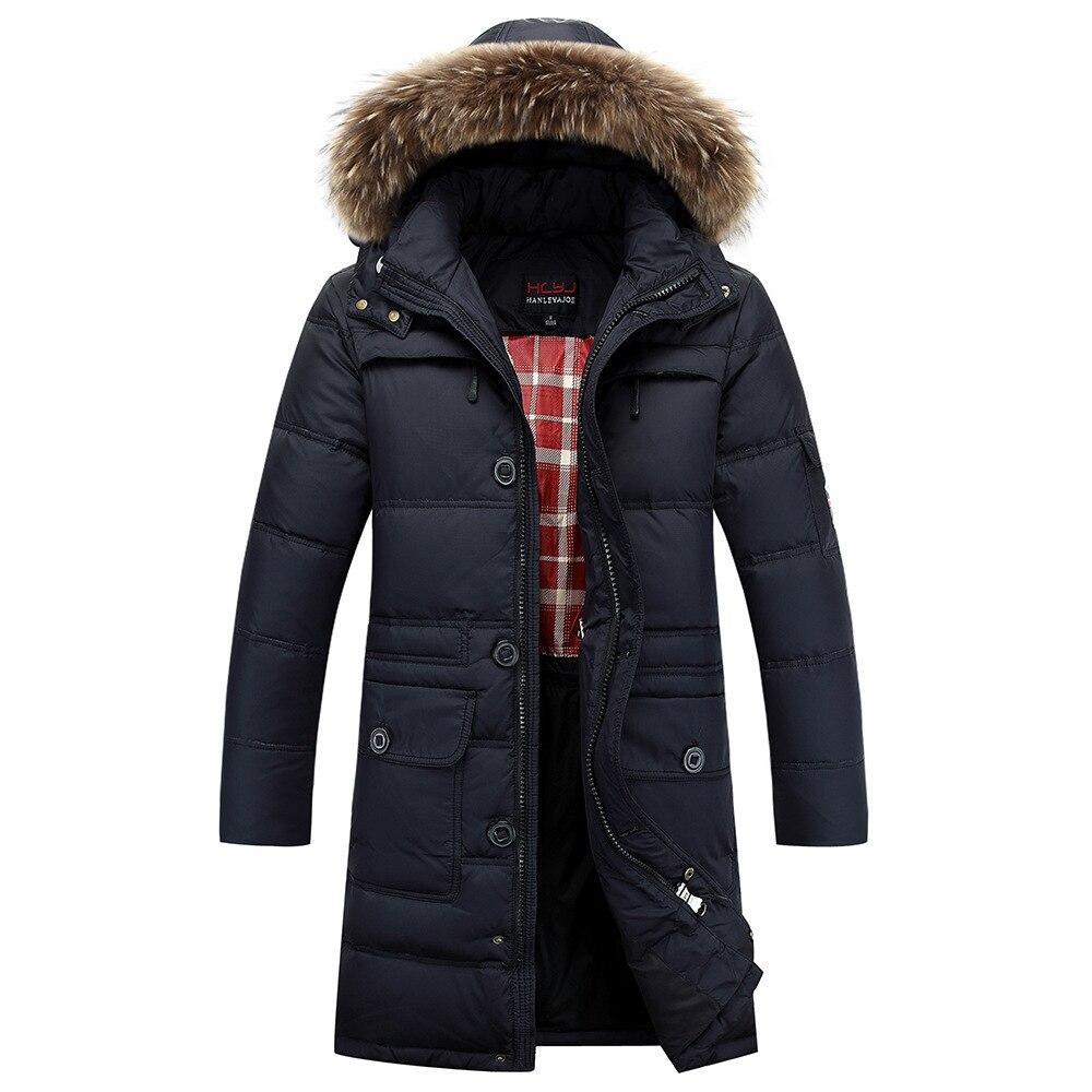 New Winter Men\'s Down Jacket Brand Natural Fur Col...
