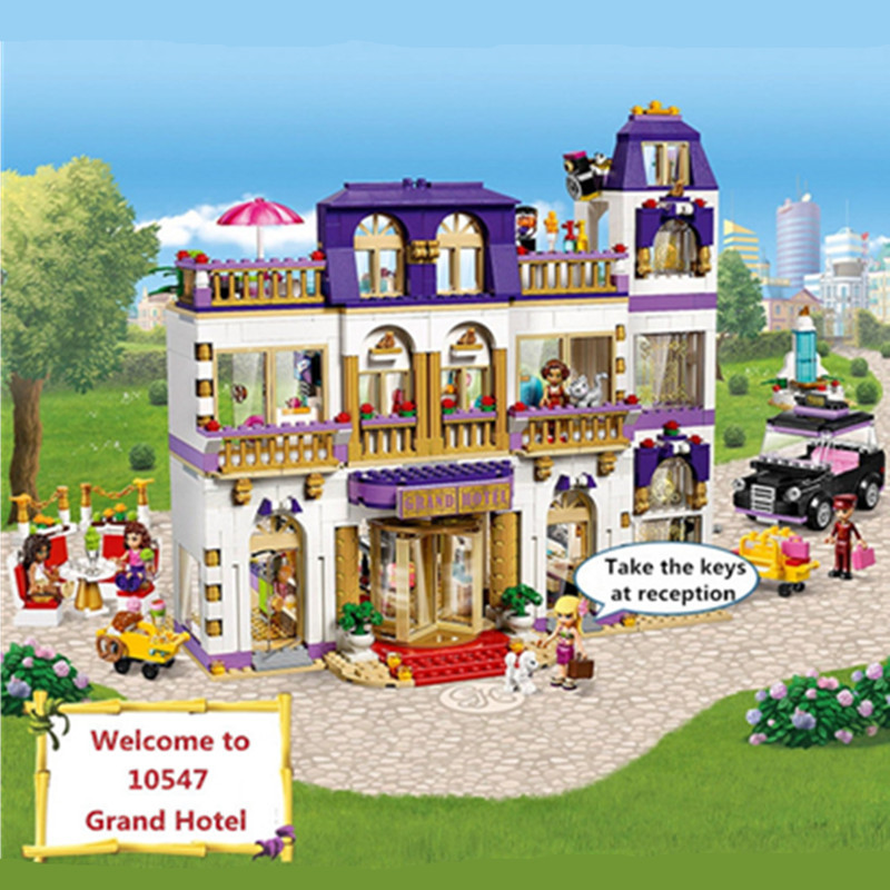 1585pcs Diy Friends Heartlake Grand Hotel Building Blocks Compatible With Legoingly Brick Toys For Children Brinquedos neca dc comics batman superman the joker pvc action figure collectible toy 7 18cm