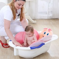 Baby Baby Bee Bath tub Newborn Foldable Four Petal Shower Cushion mat Security Petal Seat Pad