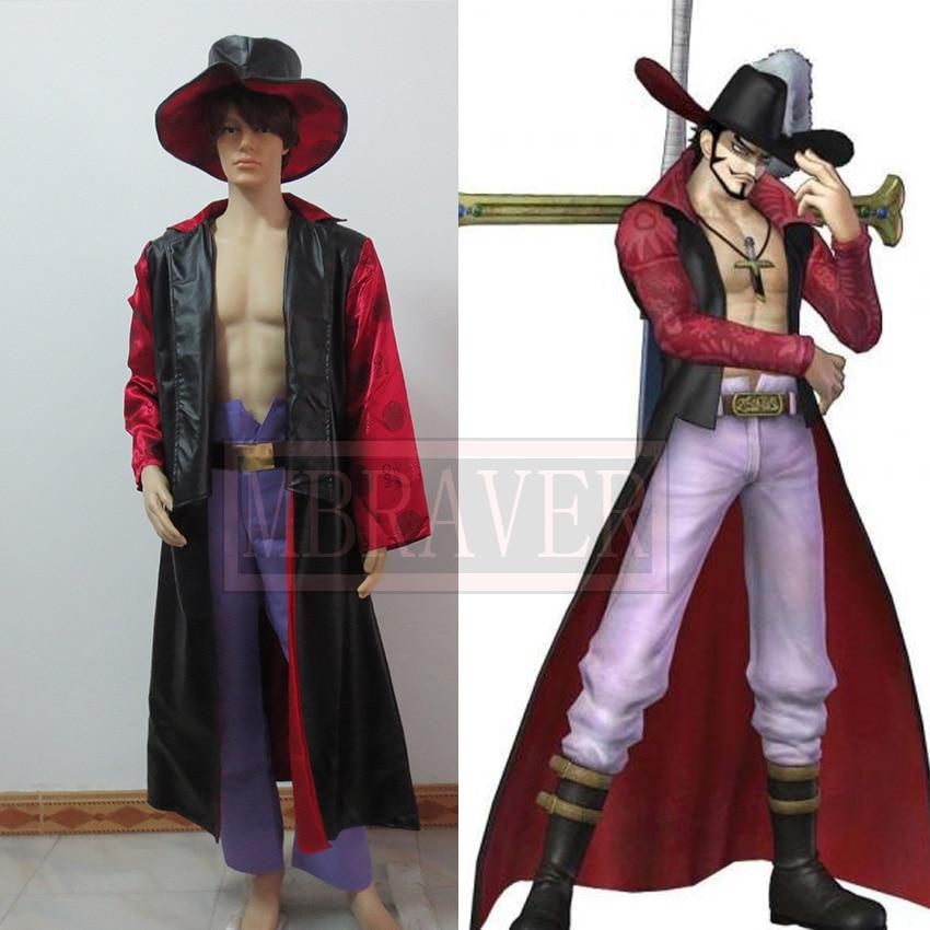 One Piece Dracule Mihawk Cosplay Costume Anime Custom Any Size