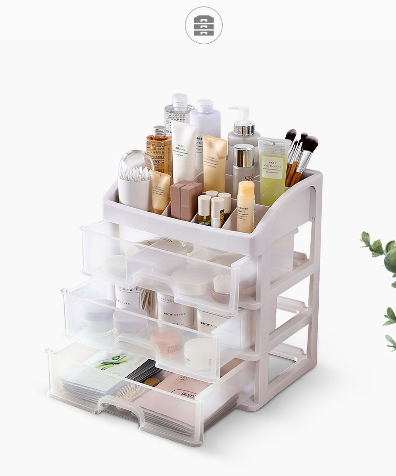 Plastic Cosmetic Storage Box to Organize Makeup with Drawers for Dressing Table of Women 7