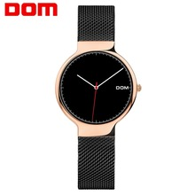 Women Watches DOM Brand Luxury Fashion Quartz Ladies Watch Clock Rose Gold Dress Casual Girl Relogio Feminino Watches Women G-32 women s watches dom brand luxury casual leather quartz watch golden clock sapphire crystal waterproof relogio faminino g 86gl 7m