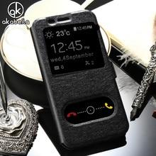 AKABEILA Case For Samsung Galaxy A5 2017 A520 A520F A520F/DS A520K A520L A520S A5200 Bag Cover Smart Sleep Case Housing Funda