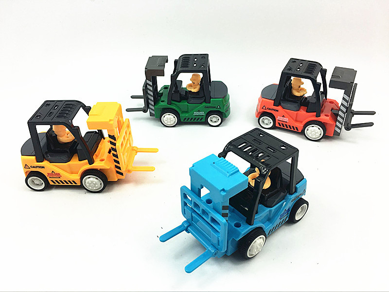 Diecast Forklift Truck Model Construction Vehicle Car Kids Toys